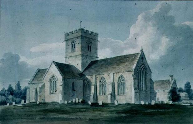 South-east View of Dinton Church, 1805