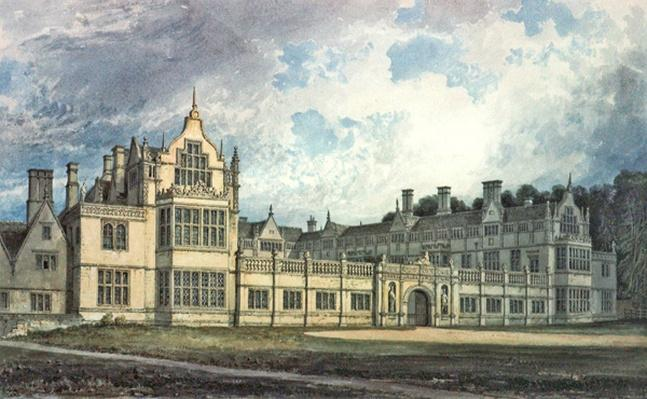 Rushton Hall, Northamptonshire: View from the South-east