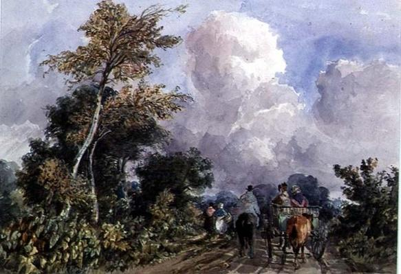 On the Deal Road, near Canterbury, 19th century