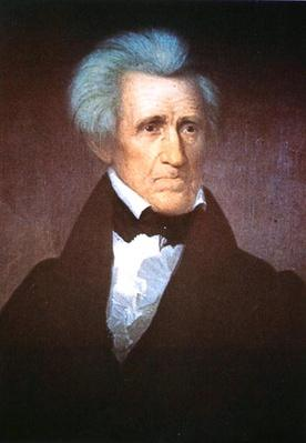 General Andrew Jackson (colour litho) by Durand, Asher Brown (1796-1886) (after)