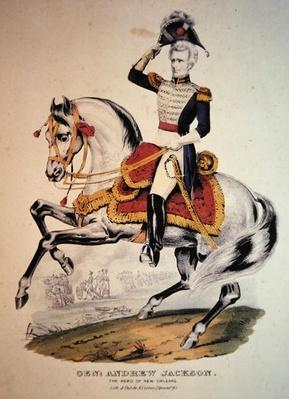 General Andrew Jackson (colour litho) by Currier, N. (1813-88) (after)