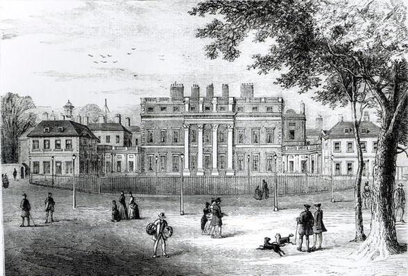 Buckingham House in 1775, from 'Old and New London: Volume 4', c.1878