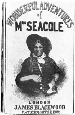 Cover of the first edition of 'The Wonderful Adventures of Mrs Seacole', published by James Blackwood of Paternoster Row, 1857