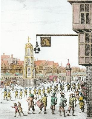 The Procession of Marie de Medici along Cheapside, 1638, published by William Herbert