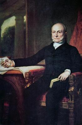 John Quincy Adams (1767-1848) (colour litho) by Healy, George Peter Alexander (1808-94)