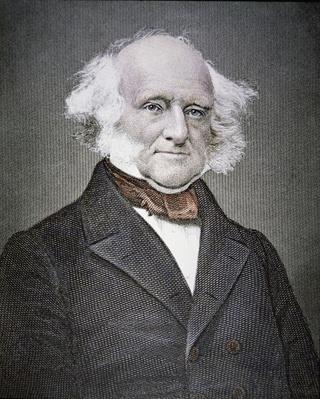 martin van buren 1782 1862 coloured engraving by american school