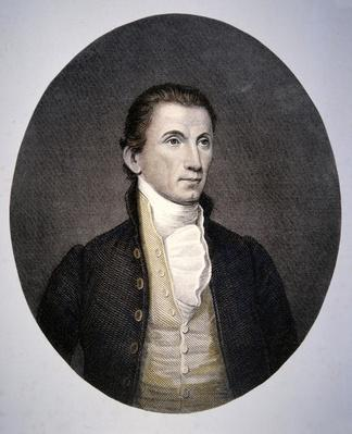 James Monroe (1758-1831) engraved by Asher Brown Durand (1796-1886) (coloured engraving) by Vanderlyn, John (1775-1852) (after)