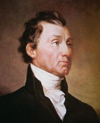 James Monroe (1758-1831) (colour litho) by Morse, Samuel Finlay Breese (1791-1872)