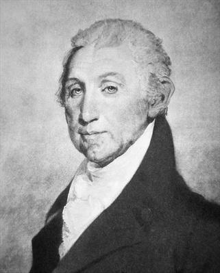 James Monroe (1758-1831) (litho) by American School, (19th century)