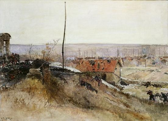 Attack on the Lime Kiln at the Champigny Quarry, 2nd December 1870, 1881