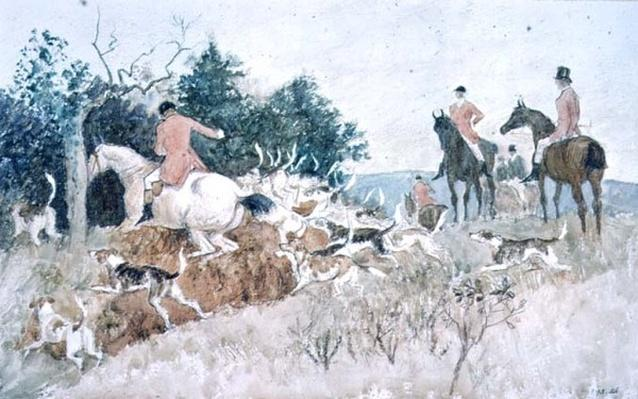 Fox Hunting: Going to Cover, 19th century