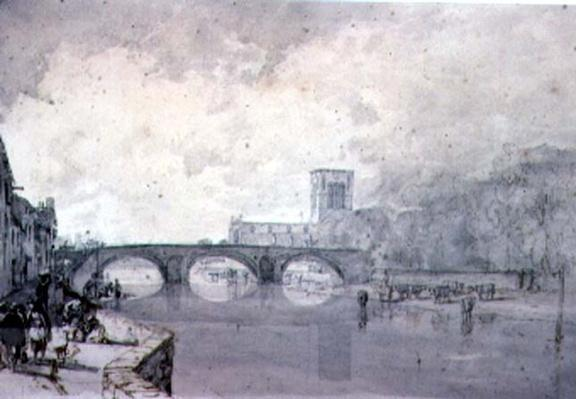 The Abbey and Nungate Bridge, Haddington, East Lothian,