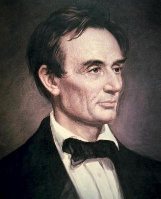 Abraham Lincoln (1809-60) (oil on canvas) by Healy, George Peter Alexander (1808-94)