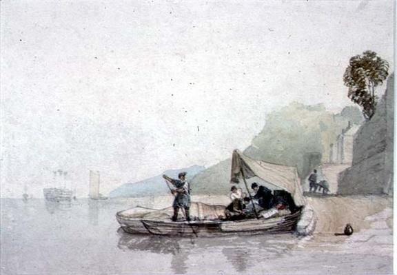 Coast Scene with Boats and Figures