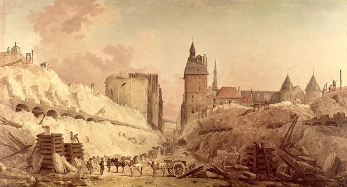 Demolition of the Houses on the Pont au Change in 1788