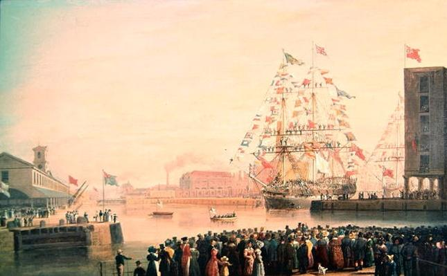 The Opening of St. Katherine's Dock, 25th October 1828
