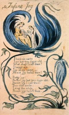 'Infant Joy', plate 27 from 'Songs of Innocence', 1789