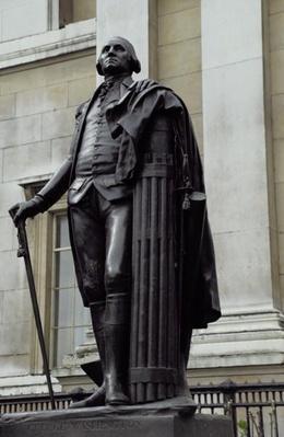 Statue of George Washington in Trafalgar Square, London