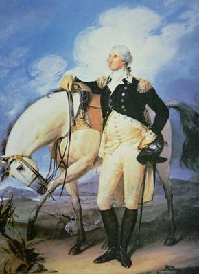 George Washington (1732-99) (colour litho) by Trumbull, John (1756-1843) (after)