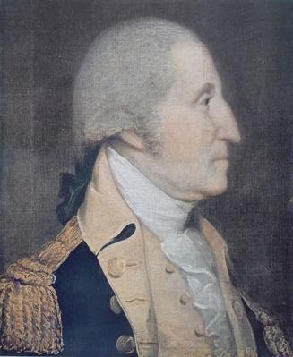 George Washington (1732-99) (colour litho) by Wright, Joseph (1756-93) (after)