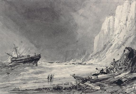 A Wreck off Speeton Cliffs, Yorkshire