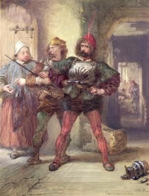 Mistress Quickly, Nym and Bardolph, from Shakespeare's Falstaff plays,