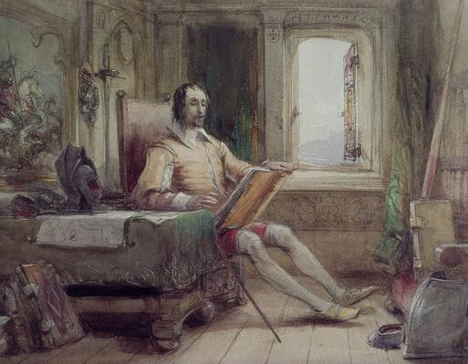 Don Quixote in his Study