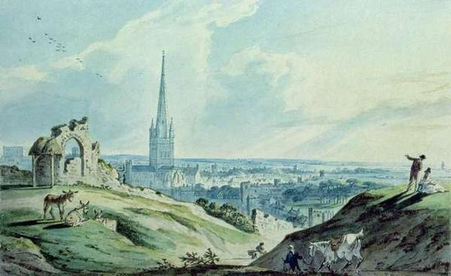 A View of Norwich, from Mouseshold Hill, near the Ruins of Kett's Castle