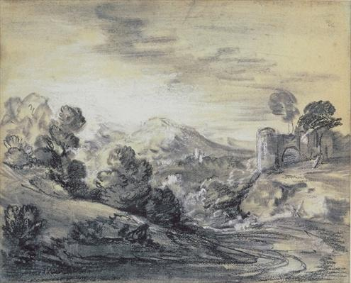 Wooded Landscape with Castle, c.1785-88