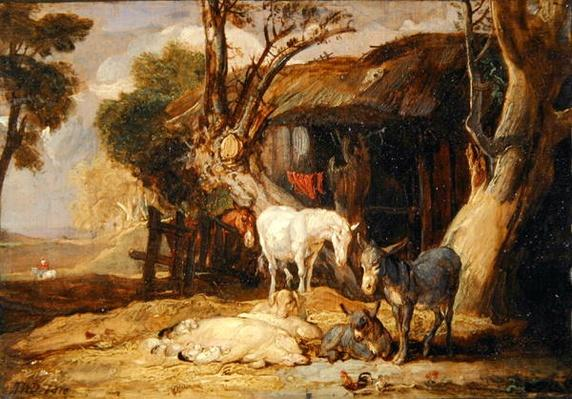 The Straw Yard, 1810