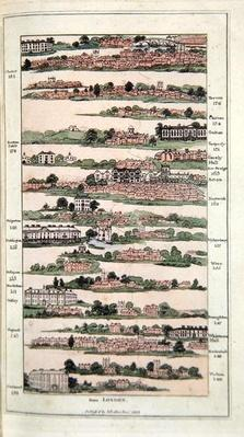 Illustration from 'The Imperial Guide with Picturesque Plans of the Great Post Roads', 1802