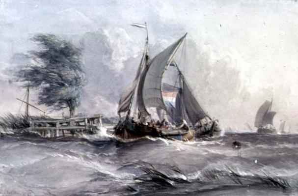 A Windy Day: Boats in a Gale