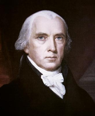 James Madison (1751-1836) (colour litho) by Vanderlyn, John (1775-1852)