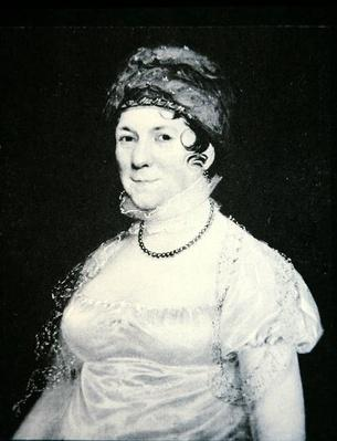 Dolley Madison (1768-1849) (lithograph) by American School, (19th century)