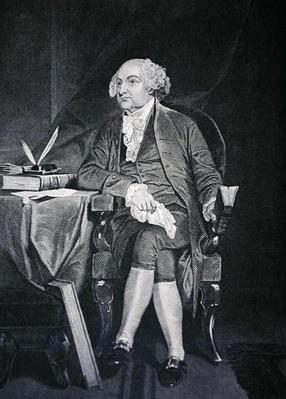 President John Adams (1735-1826) (engraving) by American School, (19th century)