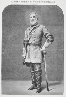 Robert E. Lee (1807-70) (litho) by American School, (19th century)