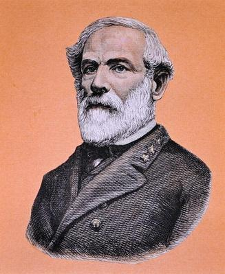 General Robert E. Lee (1807-70) (colour litho) by American School, (19th century)