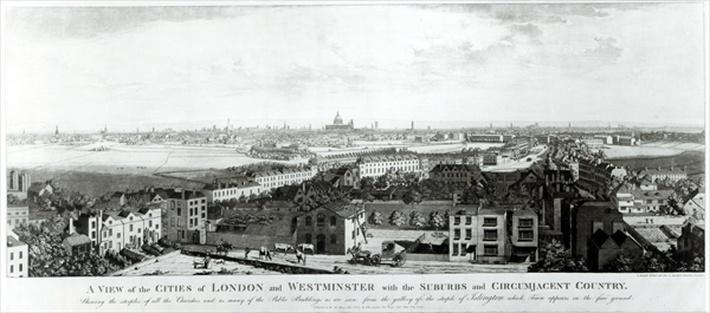 A View of the Cities of London and Westminster with Suburbs and Circumjacent Country, 1789