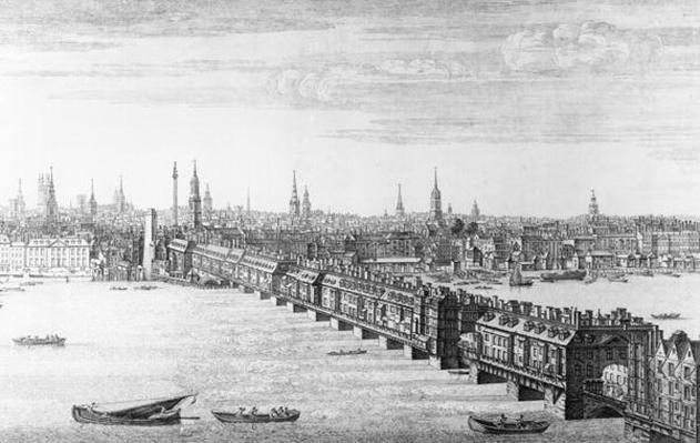 West Front of London Bridge, 1749