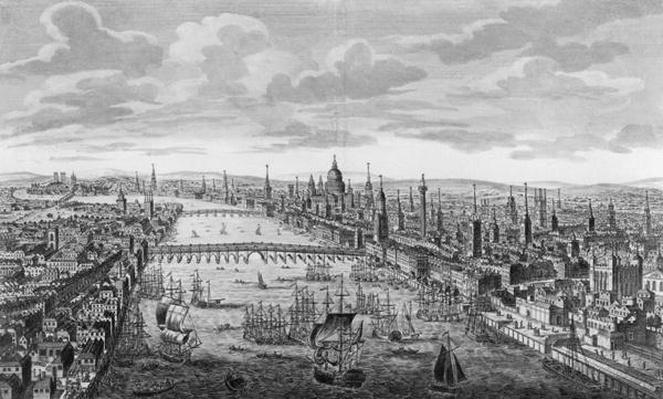 A General View of the City of London next to the River Thames, c.1780
