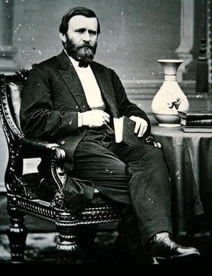 Ulysses Simpson Grant (1822-85) (b/w photo) by Brady, Mathew (1823-96)