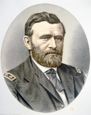 General Ulysses Simpson Grant (1822-85) (colour litho) by American School, (19th century)