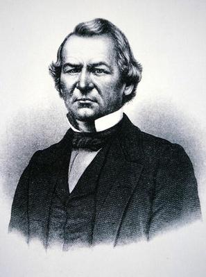 President Andrew Johnson (1808-75) (engraving) by American School, (19th century)