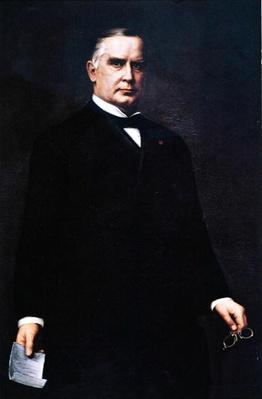 President William Mckinley (oil on canvas) by Murphy, Harriet (fl.1899)