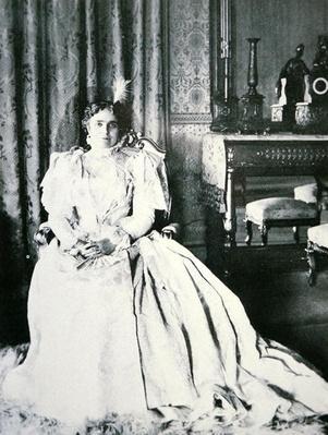 Mrs William Mckinley (1847-1907) by Johnstone, Frances (fl.1899)