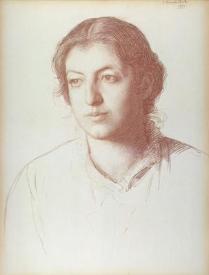 Portrait of Euterpe Ionides, afterwards Mrs. W. F. Craies