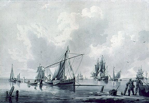 River with Shipping, 18th century