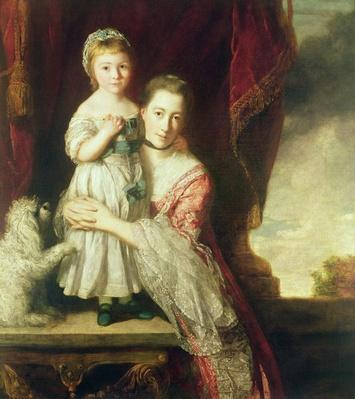 Georgiana, Countess Spencer with Lady Georgiana Spencer, 1759-61