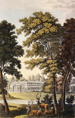 Woburn Abbey, from Ackermann's 'Repository of Arts', 1828