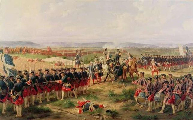Battle of Fontenoy, 11 May 1745: the French and Allies confronting each other